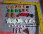 40 pezzi realizzati a mano in fimo per decorare scatole o ghirlande di Natale